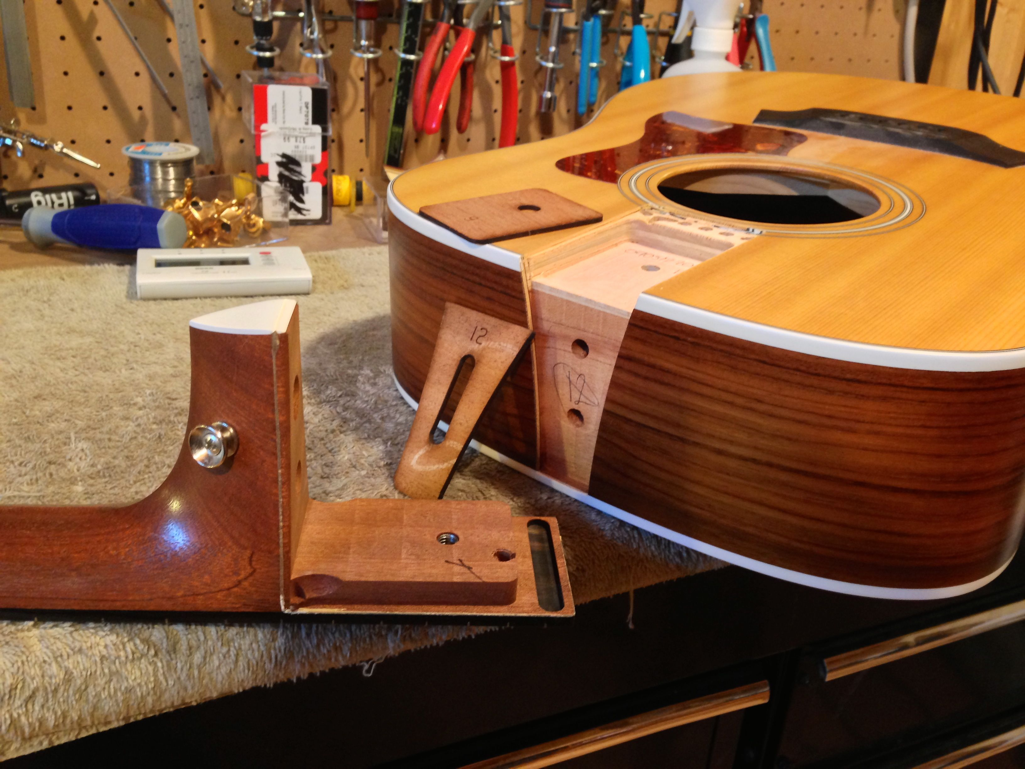 Neck reset on a Taylor acoustic guitar