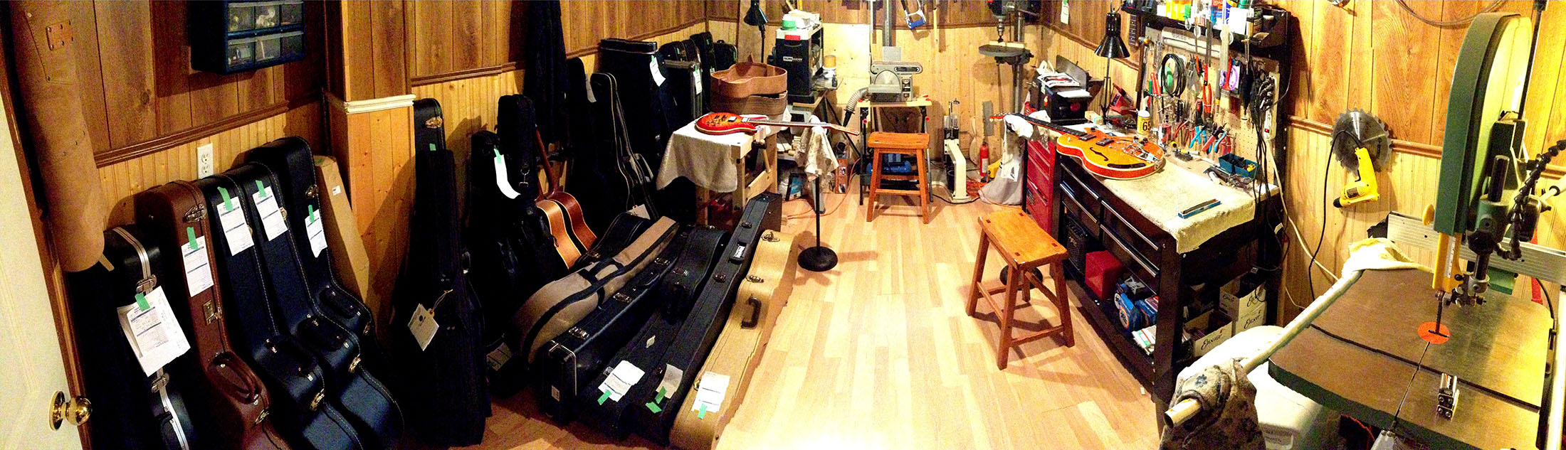 Ottawa guitar repair bench 2