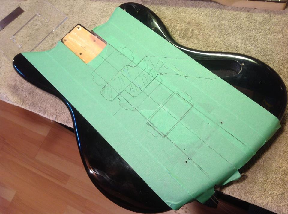 guitar modification luthier pickup routing
