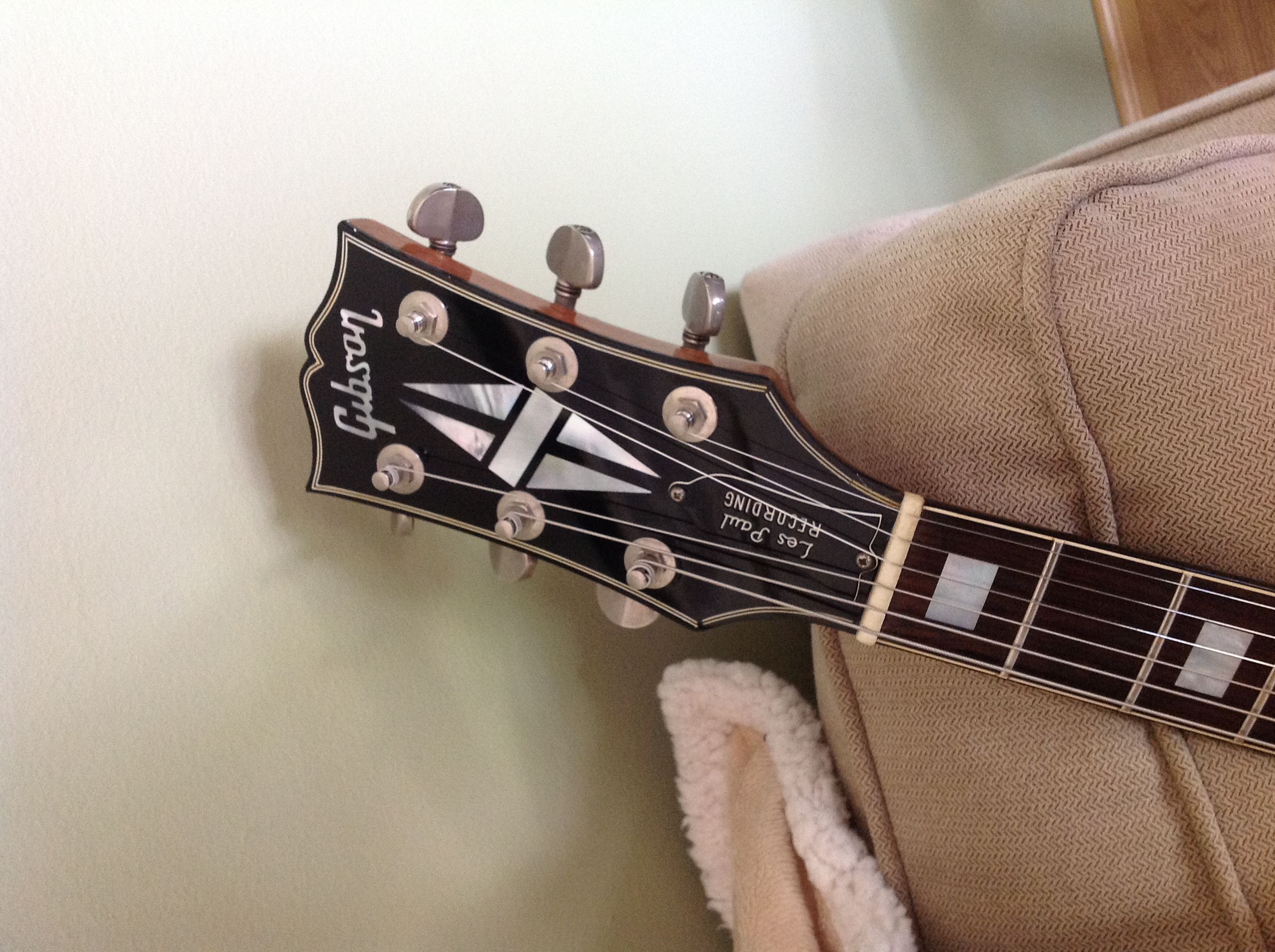 refin les paul headstock